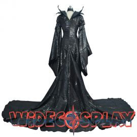 Maleficent Black Witch Princess Dress Cosplay Costume