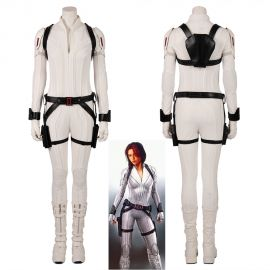 2020 Black Widow Cosplay Costume White Jumpsuit