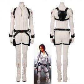 2020 Black Widow Cosplay Costume White Jumpsuit