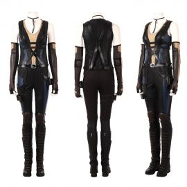 Deadpool 2 Domino Costume Neena Thurman Cosplay Costume