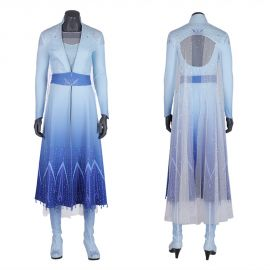 Frozen 2 Elsa Cosplay Costume Dress Deluxe Version