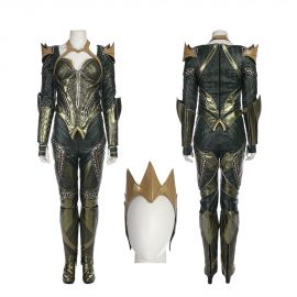 Justice League Mera Cosplay Costume Deluxe Version
