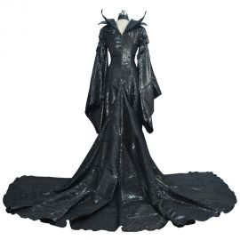 Maleficent Black Witch Princess Dress Cosplay Costume